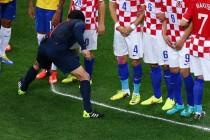 Brazil V Croatia vanishing spray
