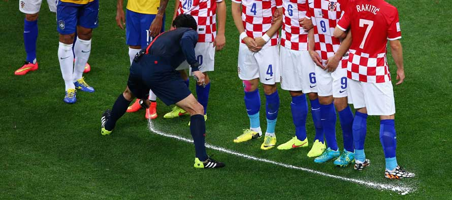 Brazil V Croatia vanishing spray