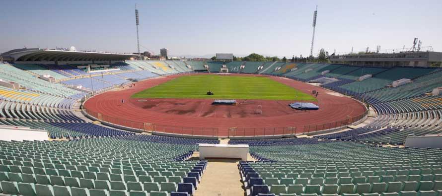 Inside Vasil Levski Stadium