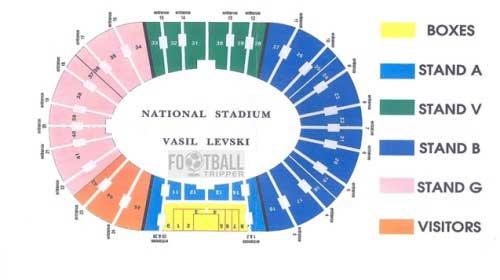 Vasil Levski Seating Plan Bulgaria
