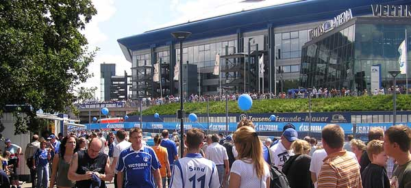 Exterior of Veltins Arena