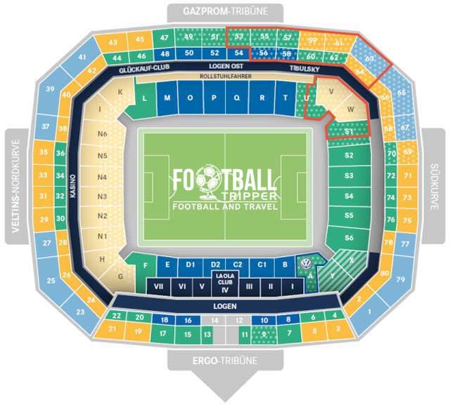 Veltins Arena Seating Plan