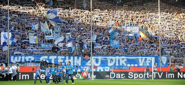 VFl Bochum supporters inside the stadium