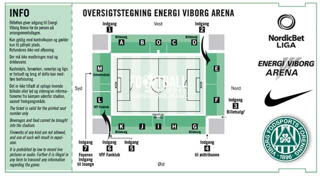 Viborg Stadion Seating Map