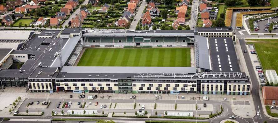 Aerial view of Viborg stadium