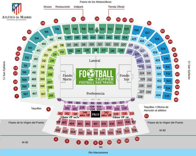 Vicente Calderon Seating Plan