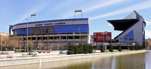 An external view of Estadio Vicente Calderon