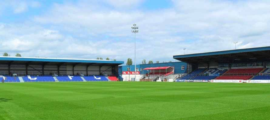 The pitch at Victoria Park Dingwall