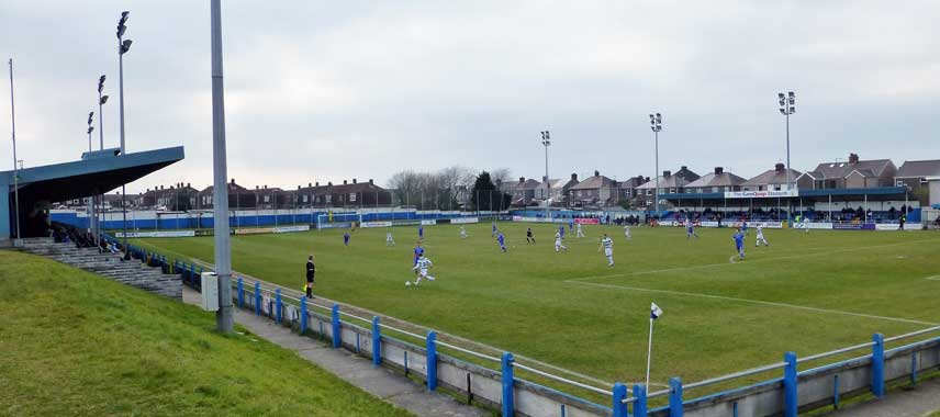 Inside Victoria Road Stadium on a matchday