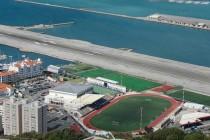 Aerial view of Gibraltar's Victoria Stadium