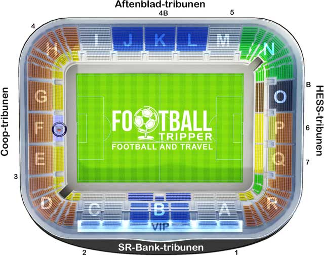 Viking Stadion seating map