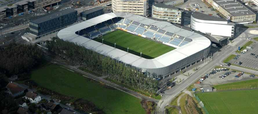 aerial view of viking stadion