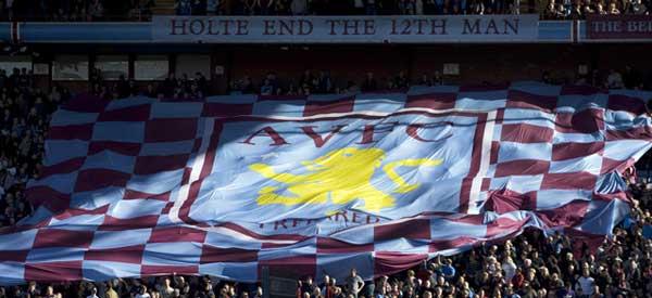 Villa Park fans in the Holte End