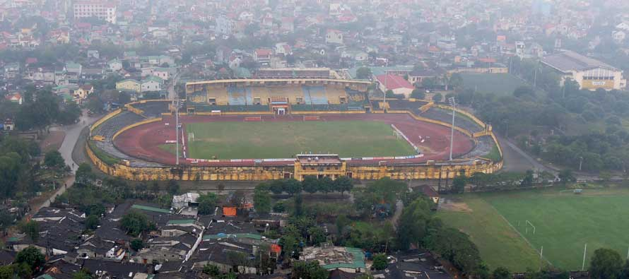 Aerial view of Vinh Stadium