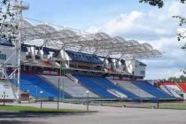 The main stand of Vitebsky sports stadium