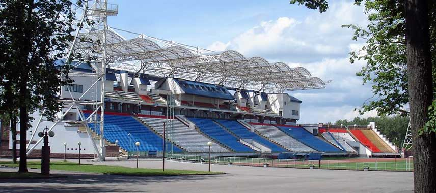 The main stand of Vitebsky sports stadium