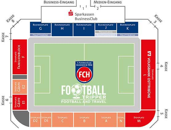 Voith Arena Seating Plan