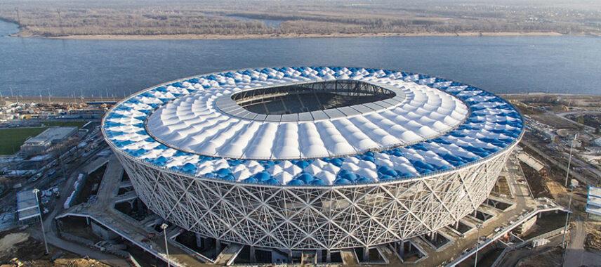 aerial view of Volgograd Arena