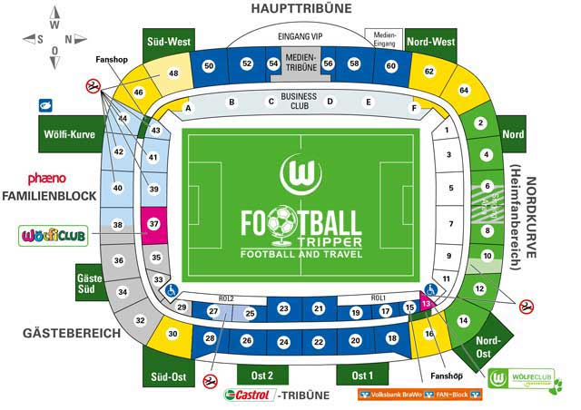 Volkswagen Arena Seating Plan