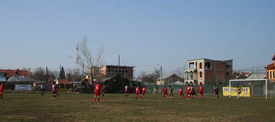 The pitch at Voluntari's Nita Pintea stadium