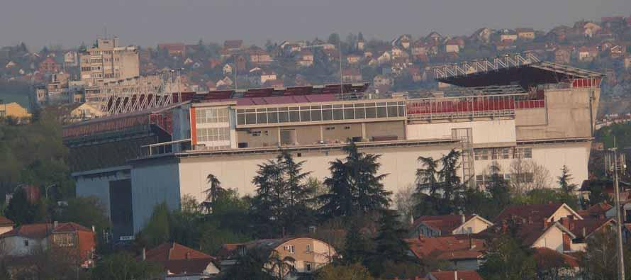 External view of Vozdovac Stadium