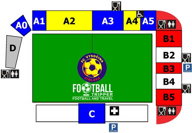 Stadion v Jiráskově ulici seat chart