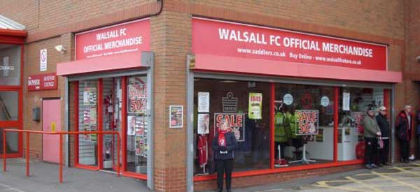 The exterior of Walsall's Club Shop