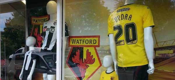 Exterior of Watford FC club shop