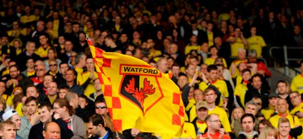 Watford supporters inside the stadium