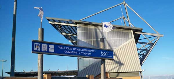 Welcome to Colchester Community Stadium.