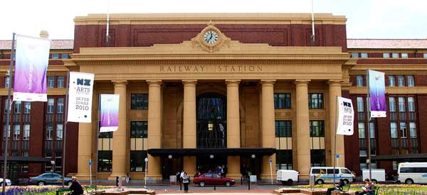 The exterior of Wellington Central Railway Station