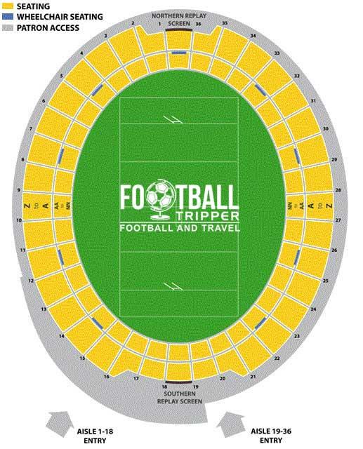 Wellington Regional Stadium Seating Plan