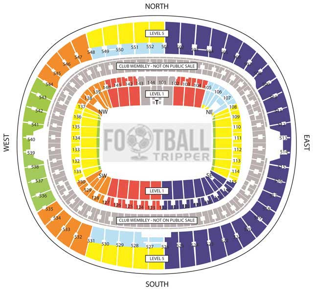 Wembley seating Plan Football