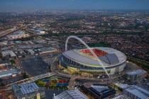 Aerial view of Wembley Stadium