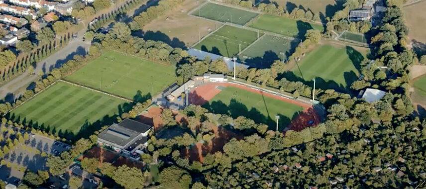 Aerial view of Werder Bremen's stadium