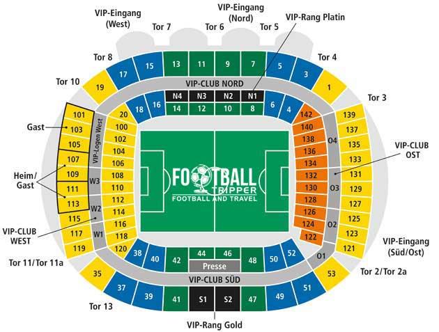 Weserstadion Bremen Seating Plan