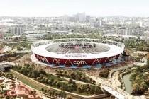 Aerial view of West Ham's Olympic Stadium