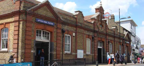Upton Park tube station. The name which Boleyn Ground takes its popular name from.