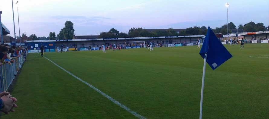 View of West leigh park from corner flag