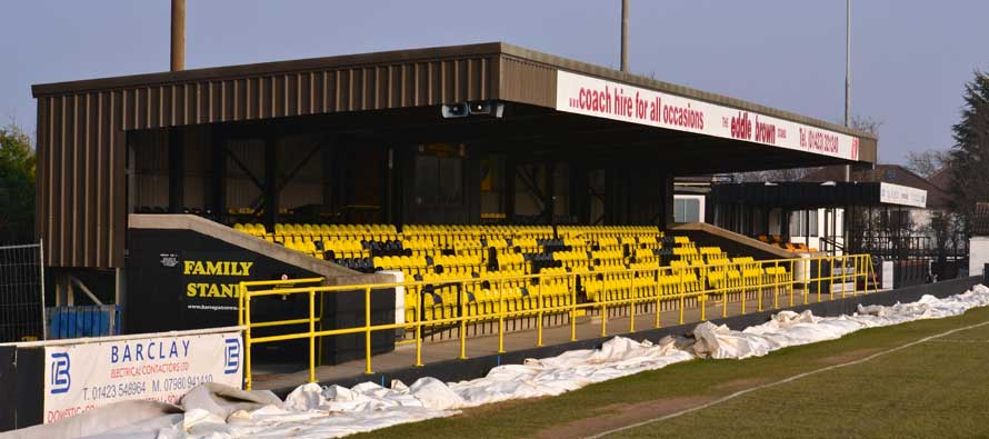Wetherby Road's main seating stand