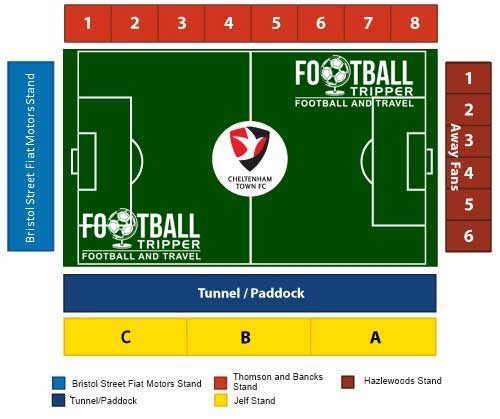 Whaddon Road Stadium Seating Plan
