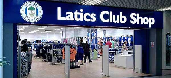 Exterior of Wigan FC club shop