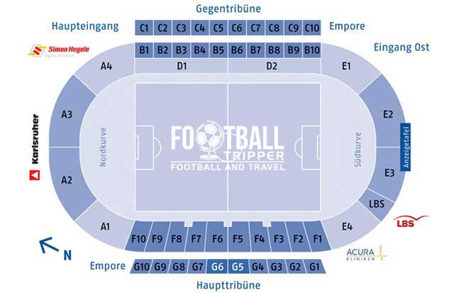 Wildparkstadion Seating Plan