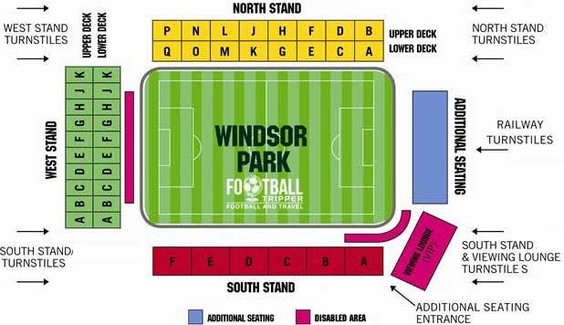 Northern Ireland National Stadium Map