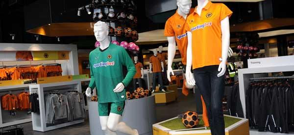 Inside Wolves club shop