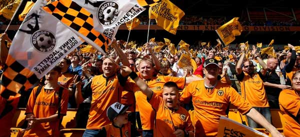 Wolves supporters inside the stadium