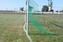 Wonky goal line in Romania