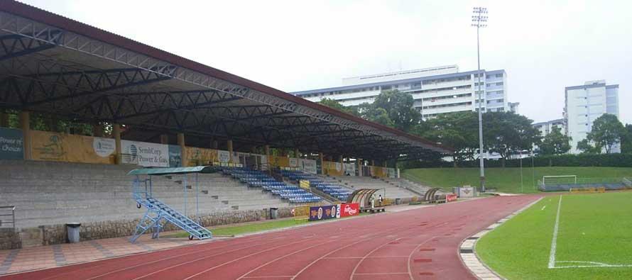 Woodlands Stadium's main stand