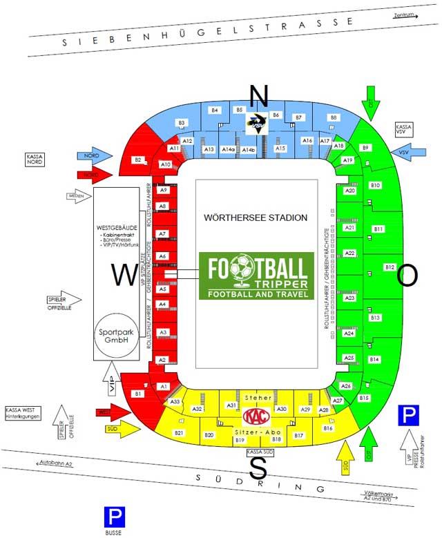Wörthersee Stadion stadium map