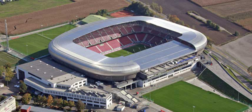 Aerial view of Worthersee Stadion